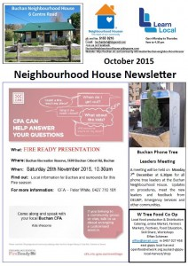 October Newsletter  Cover
